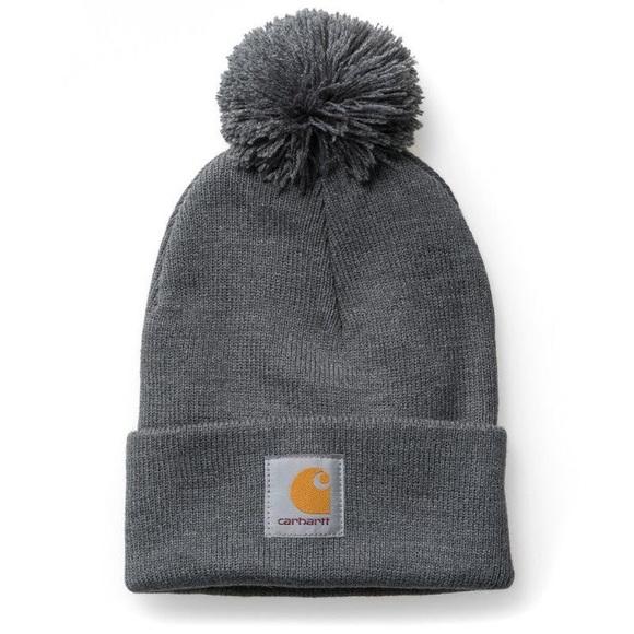 8c348431e CARHARTT - Pom Winter beanie hat Grey NWT